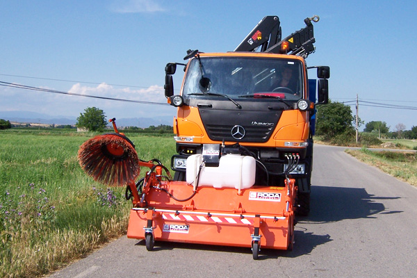 eco due truck sweeper